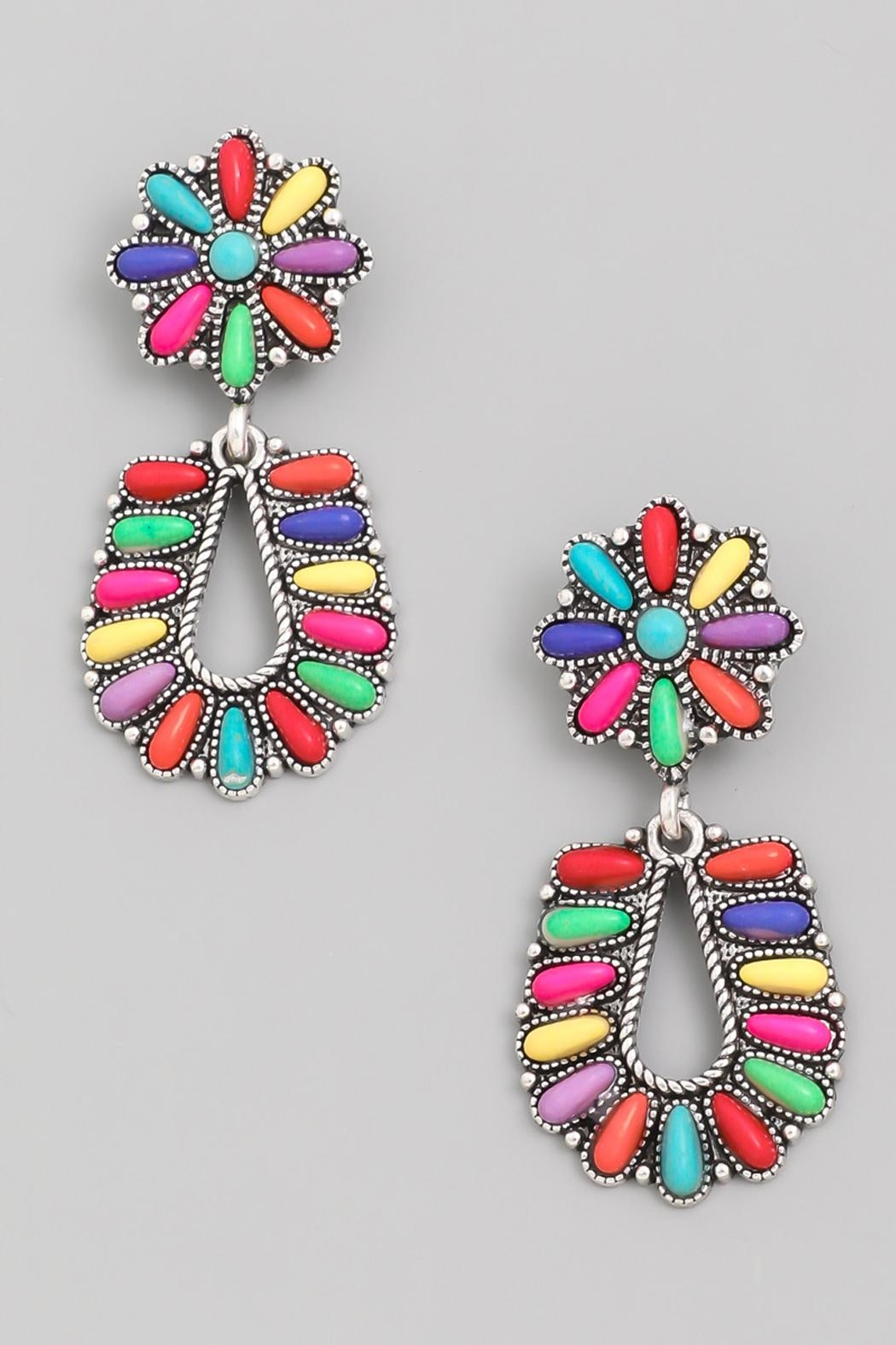 Wild Lilies Jewelry  Rainbow Floral Earrings - Main Image