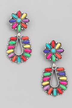 Wild Lilies Jewelry  Rainbow Floral Earrings - Alternate List Image