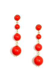 Wild Lilies Jewelry  Red Ball Earrings - Product Mini Image