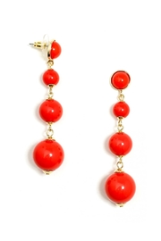 Wild Lilies Jewelry  Red Ball Earrings - Front full body