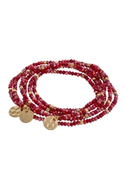 Wild Lilies Jewelry  Red Beaded Bracelet - Product Mini Image