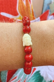 Wild Lilies Jewelry  Red Buddha Bracelet - Product Mini Image