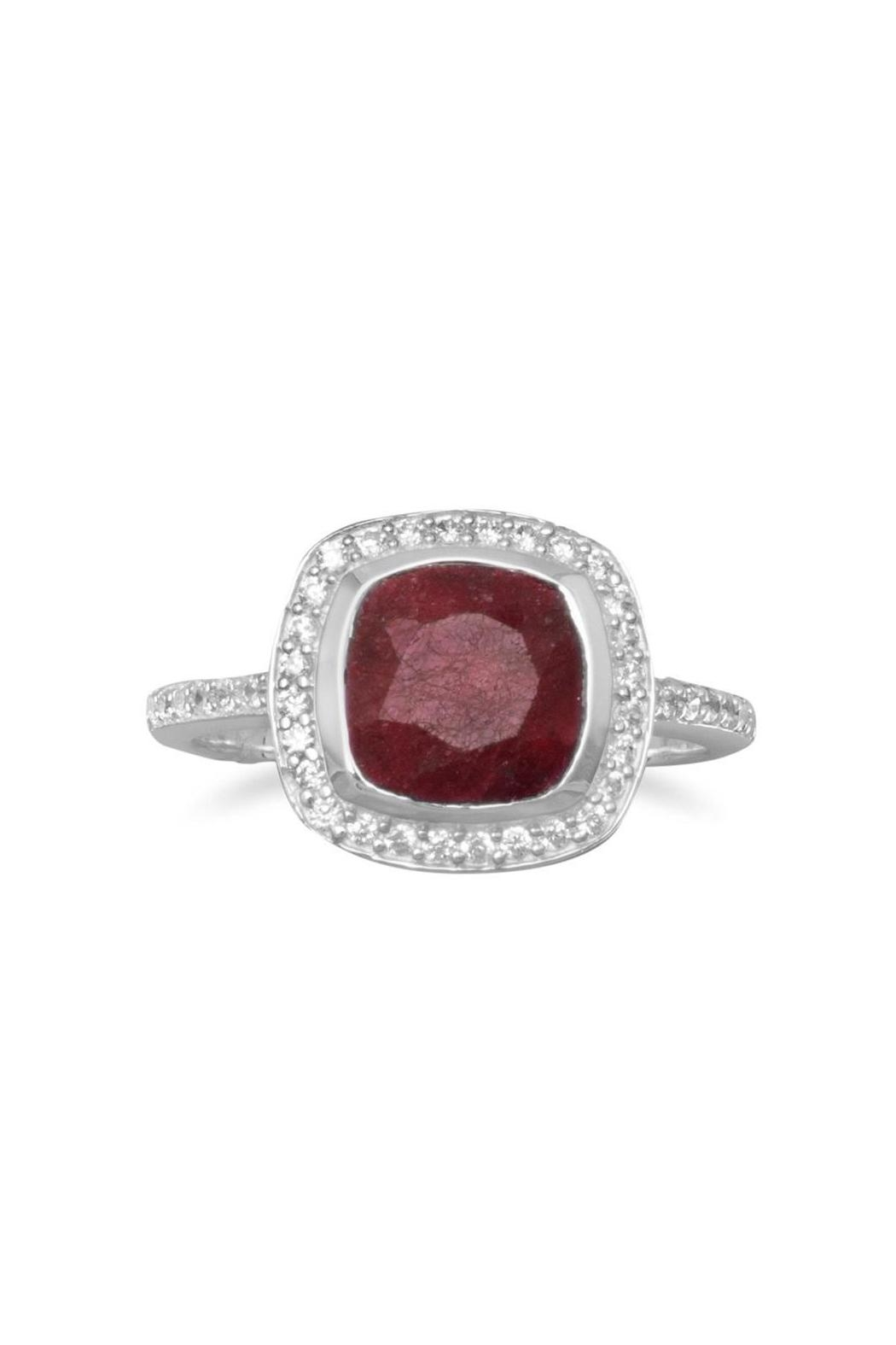 Wild Lilies Jewelry  Red Corundum Ring - Main Image