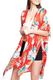 Wild Lilies Jewelry  Red Floral Kimono - Product Mini Image
