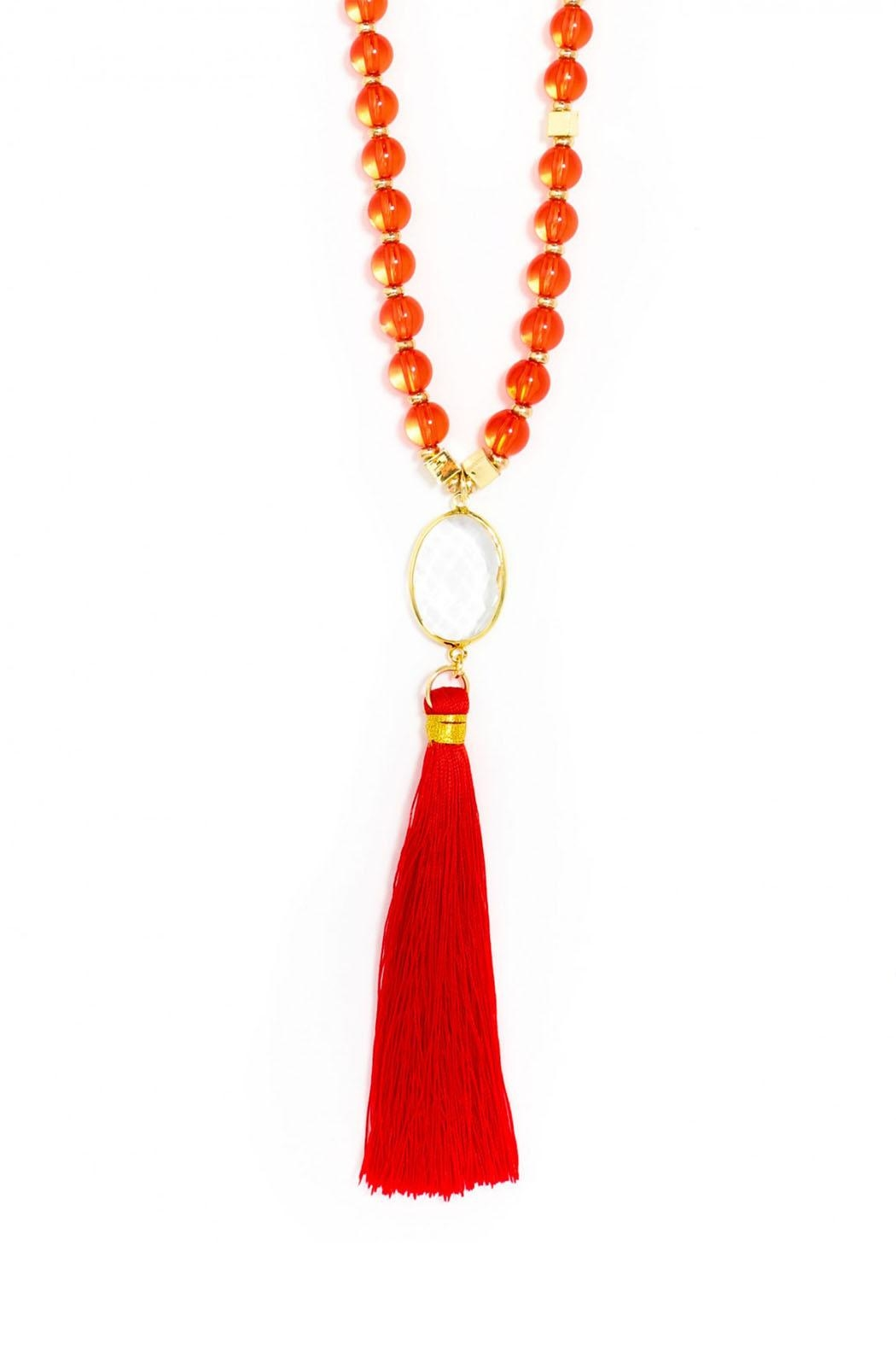 Wild Lilies Jewelry  Red Fringe Necklace - Main Image
