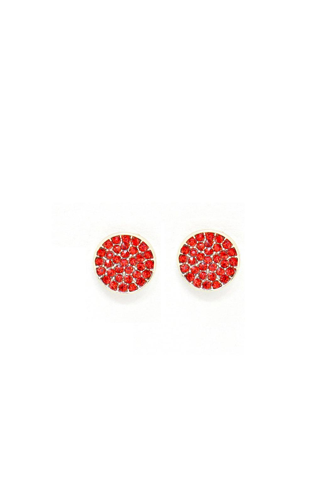 Wild Lilies Jewelry  Red Pave Studs - Main Image