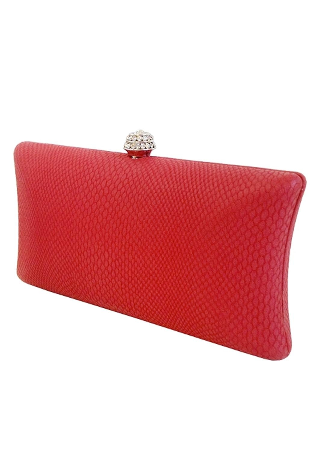 Wild Lilies Jewelry  Red Snakeskin Clutch - Main Image