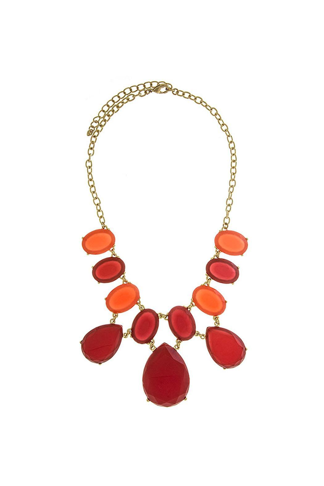 Wild Lilies Jewelry  Red Statement Necklace - Main Image
