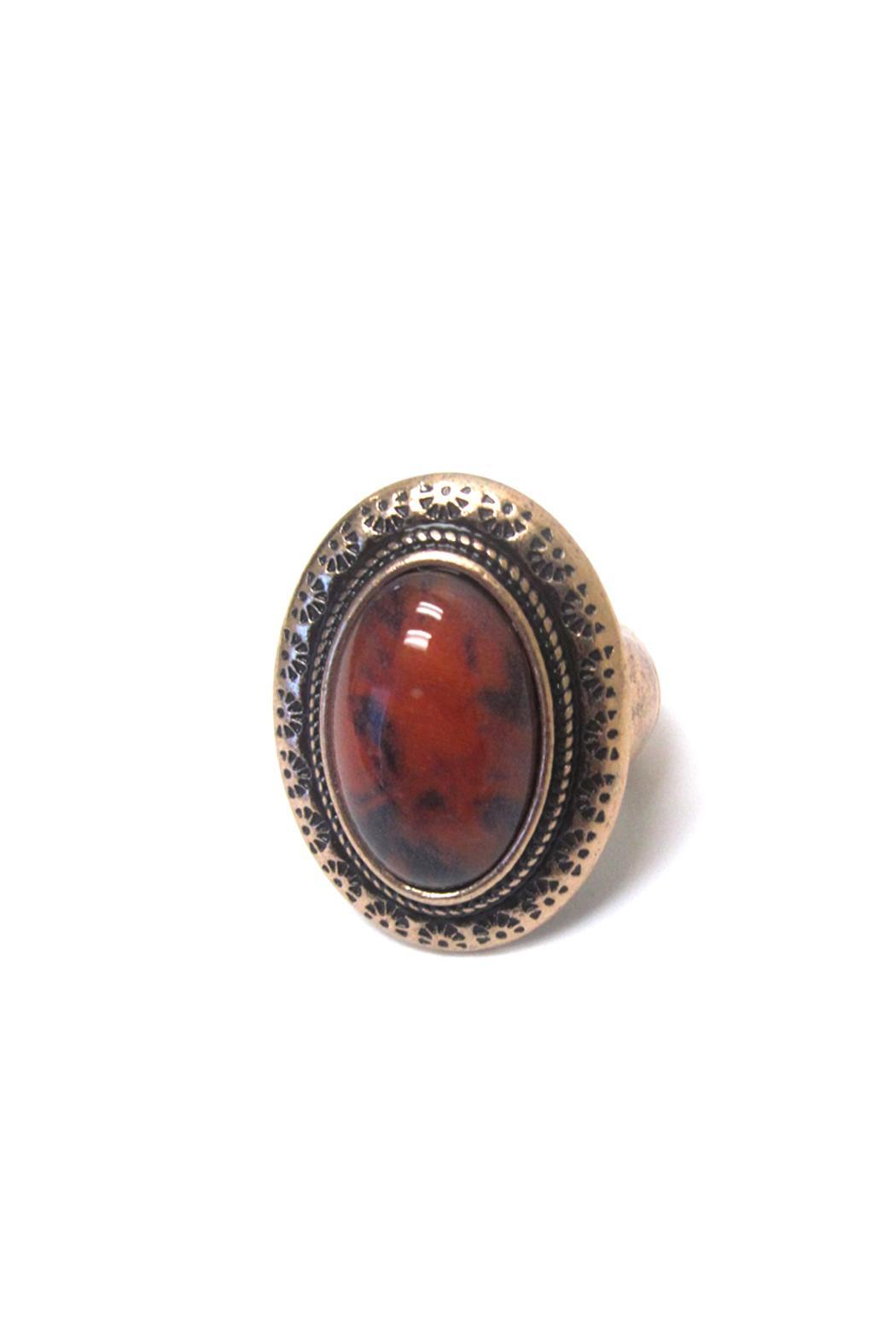 Wild Lilies Jewelry  Red Stone Ring - Main Image