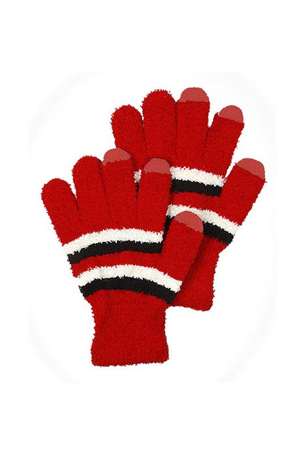 Wild Lilies Jewelry  Red Striped Gloves - Front Cropped Image