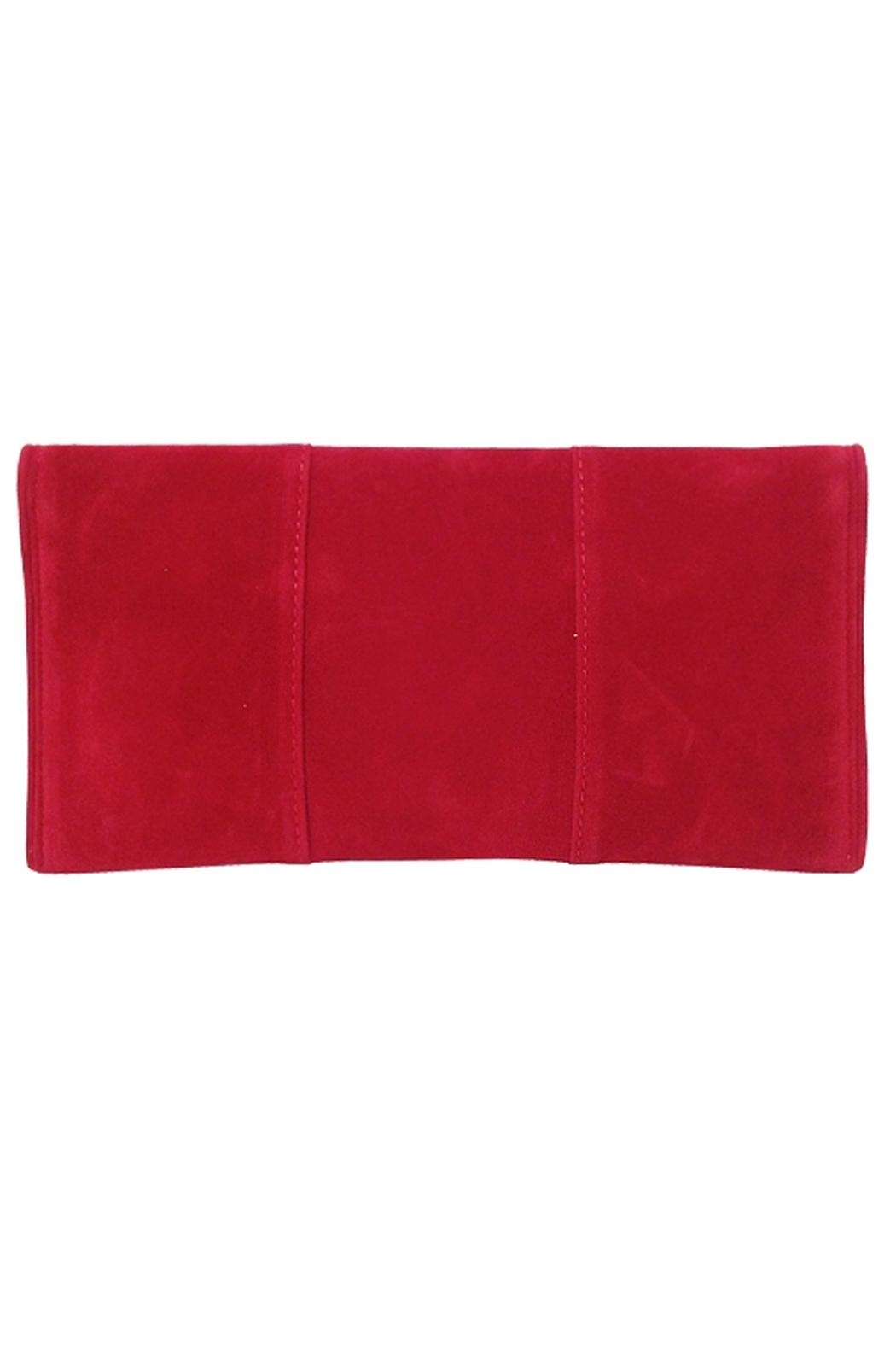 Wild Lilies Jewelry  Red Velvet Clutch - Front Full Image