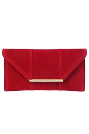 Wild Lilies Jewelry  Red Velvet Clutch - Front cropped