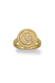 Wild Lilies Jewelry  Reversible Gold Ring - Front full body