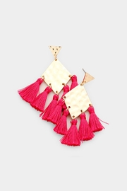 Wild Lilies Jewelry  Rhombus Tassel Earrings - Product Mini Image