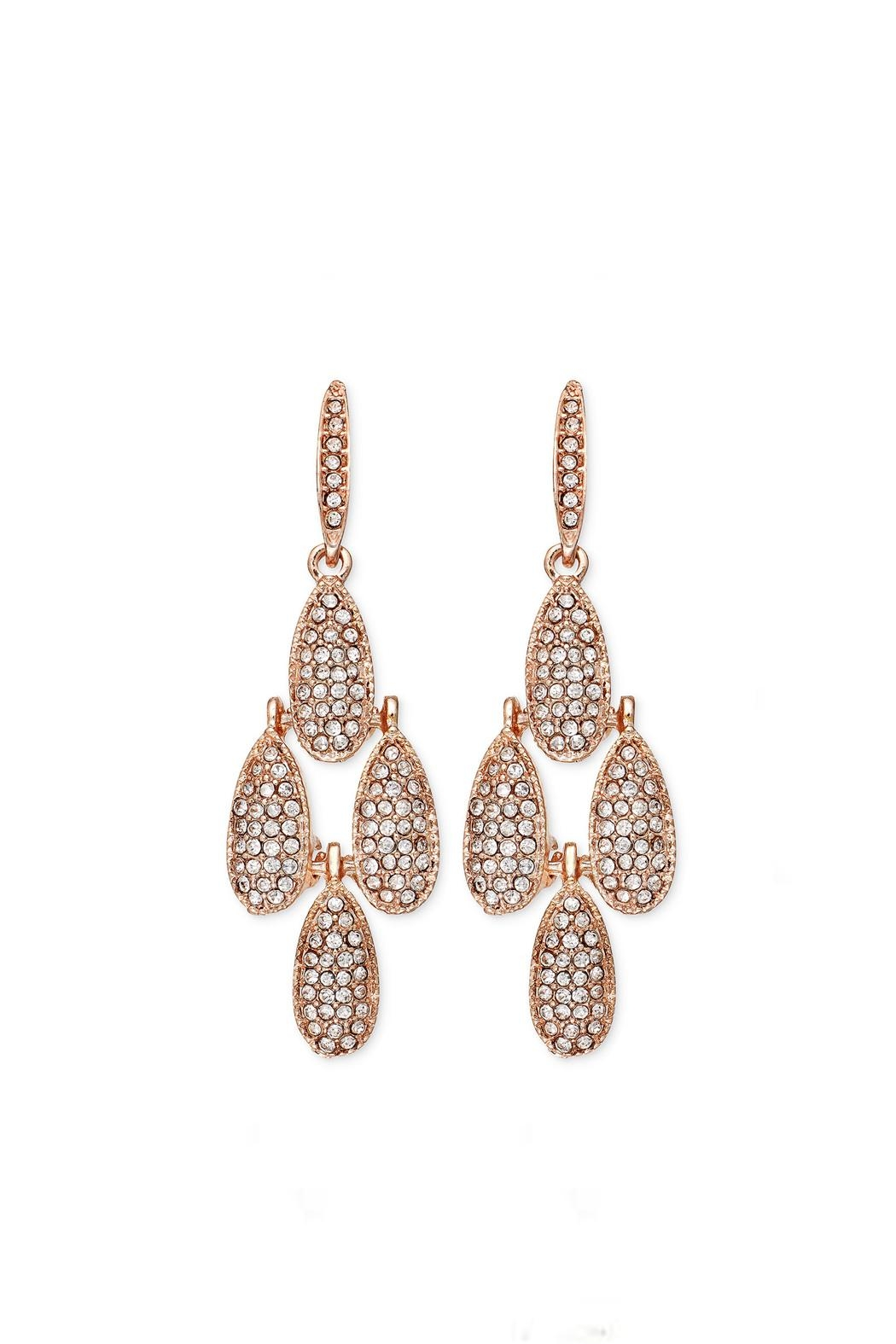 Wild Lilies Jewelry Rose Gold Chandelier Earrings Front Cropped Image