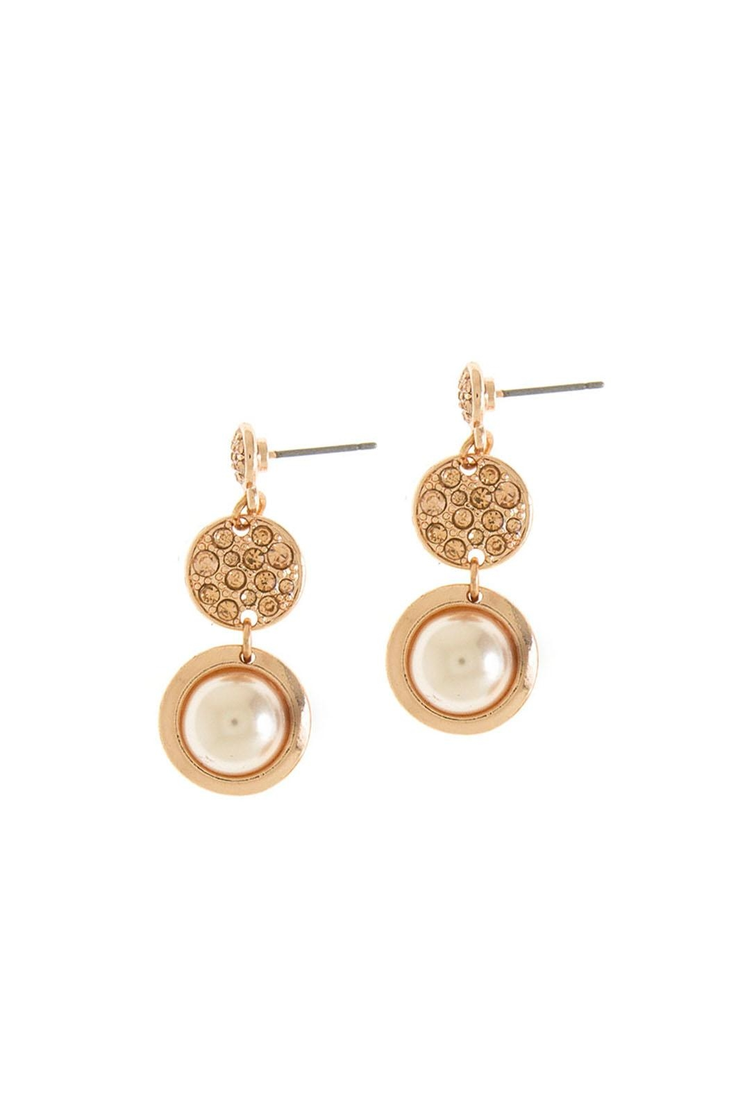 Wild Lilies Jewelry  Rose Gold Tiered Earrings - Front Full Image