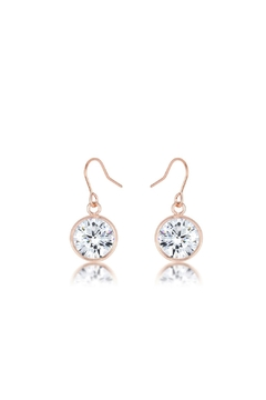 People Outfitter Druzy RoseGold Earrings from New York Shoptiques