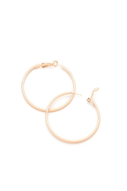 Wild Lilies Jewelry  Rose Gold Hoop Earrings - Front cropped