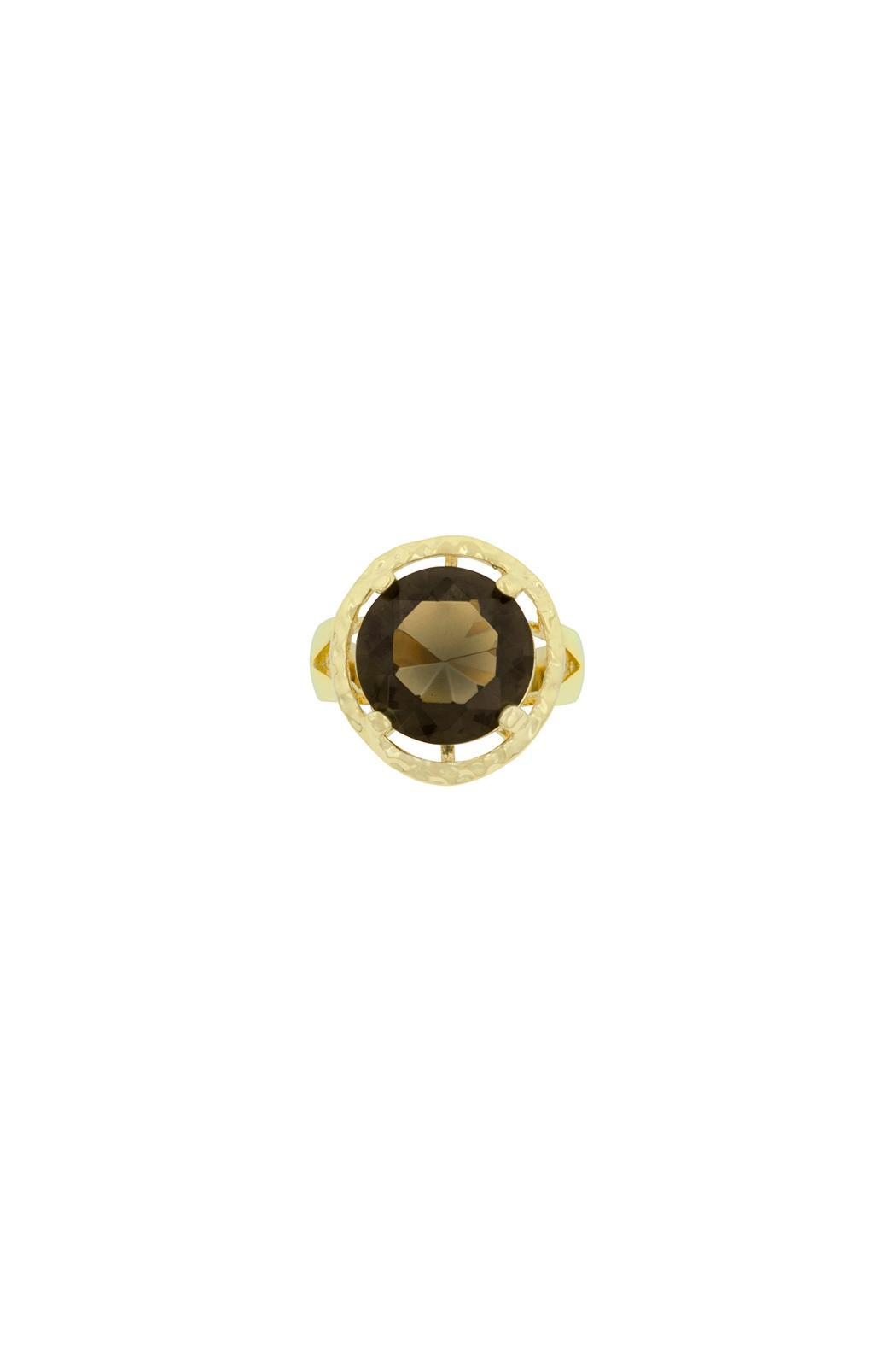 Wild Lilies Jewelry  Round Brown Ring - Front Full Image