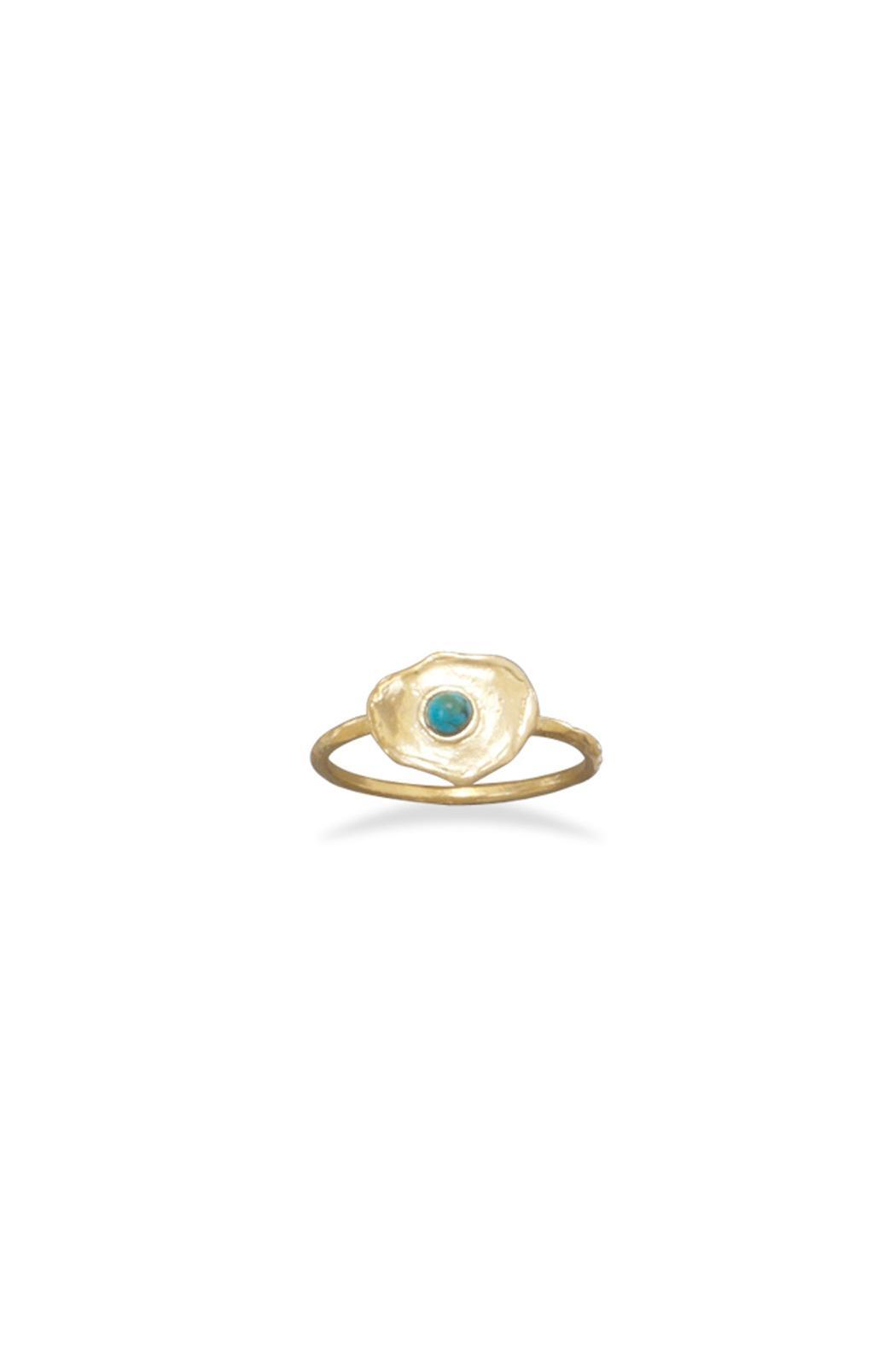 Wild Lilies Jewelry  Round Turquoise Ring - Main Image