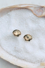 Wild Lilies Jewelry  Seashell Stud Earrings - Front cropped
