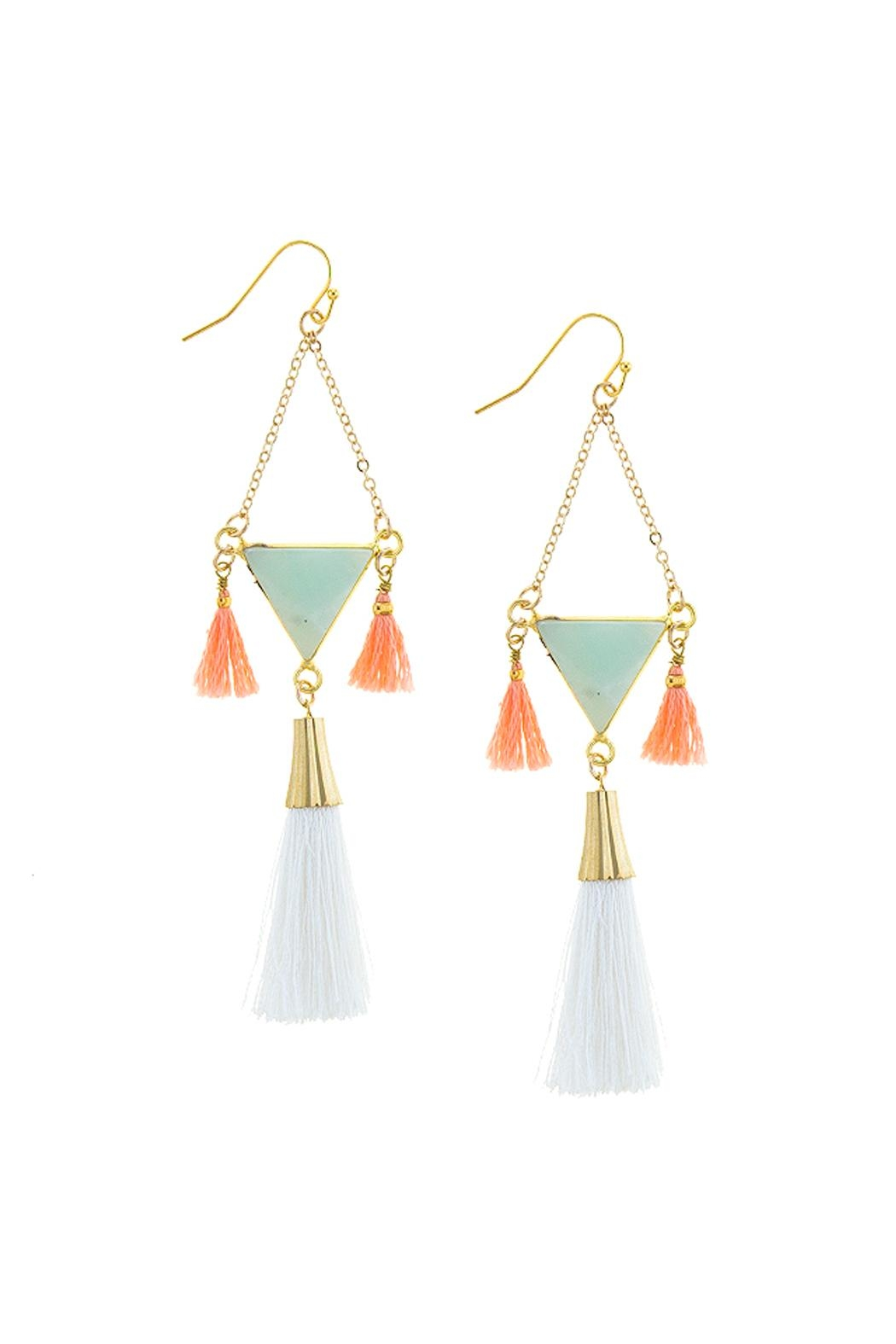 Wild Lilies Jewelry  Semi Precious Tassel Earrings - Front Cropped Image