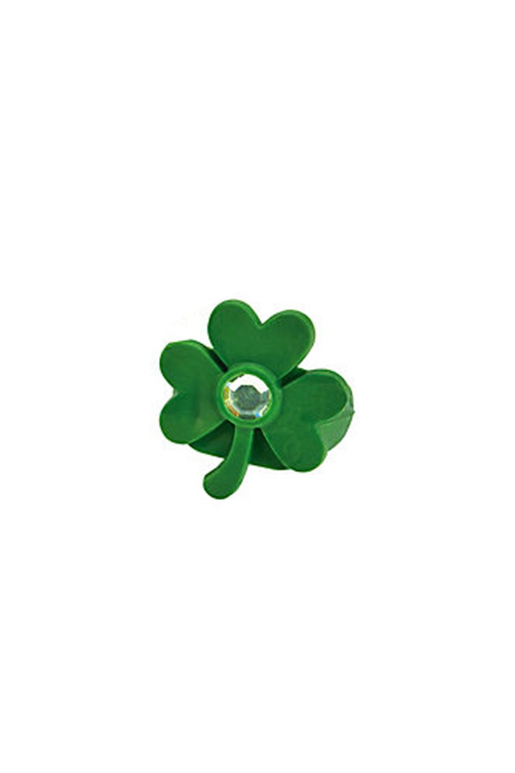 Wild Lilies Jewelry  Shamrock Rhinestone Ring - Front Cropped Image