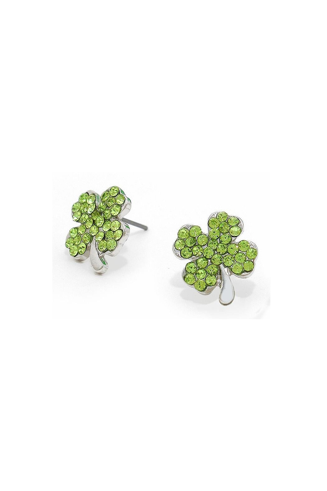 Wild Lilies Jewelry Shamrock Stud Earrings Front Cropped Image