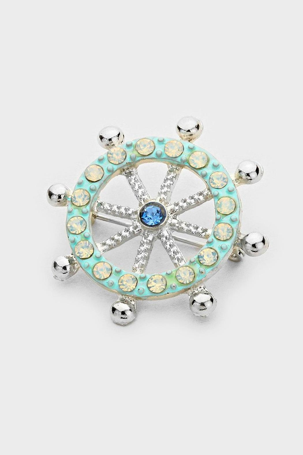 Wild Lilies Jewelry  Ship Wheel Brooch - Front Cropped Image