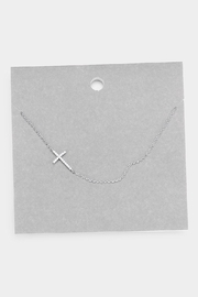 Wild Lilies Jewelry  Sideways Cross Necklace - Front cropped