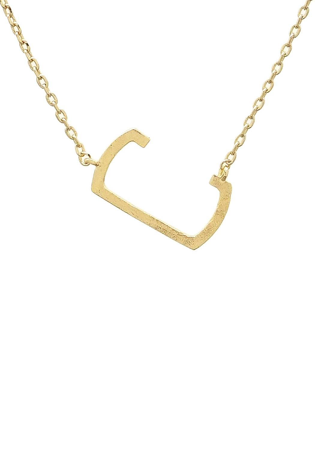 Wild Lilies Jewelry  Sideways Initial Necklace - Front Full Image