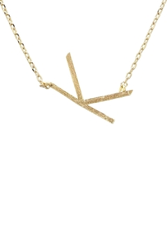 Wild Lilies Jewelry  Sideways Initial Necklace - Alternate List Image
