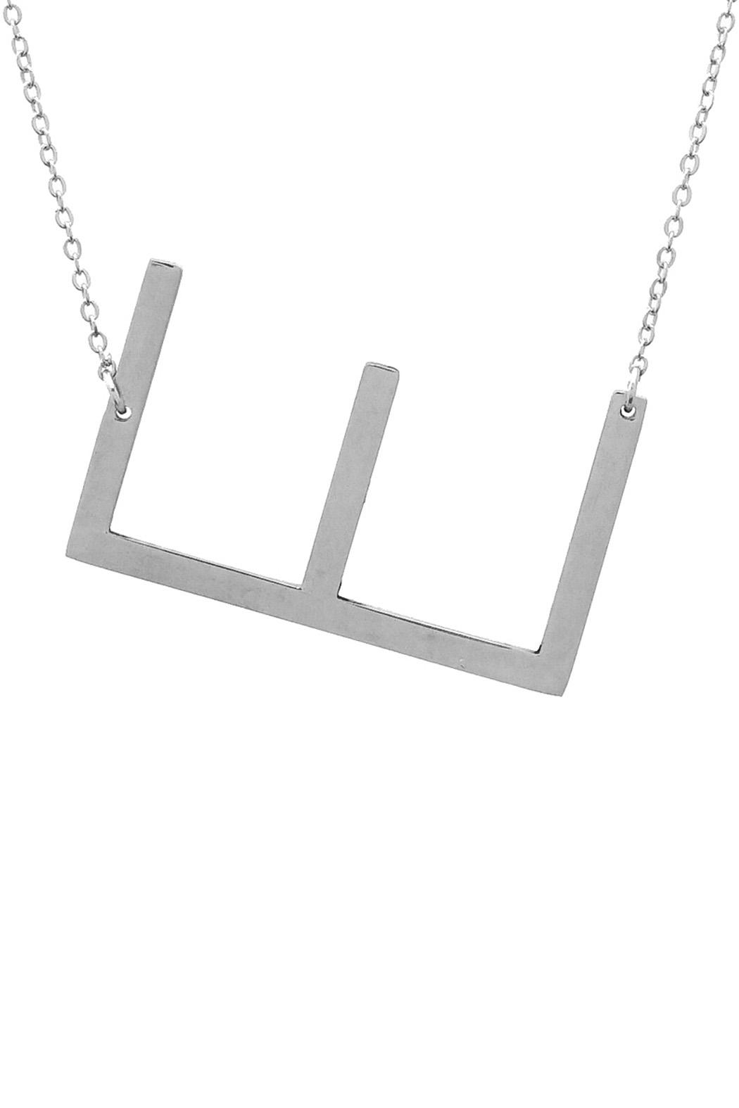 Wild Lilies Jewelry  Sideways Initial Necklace - Back Cropped Image