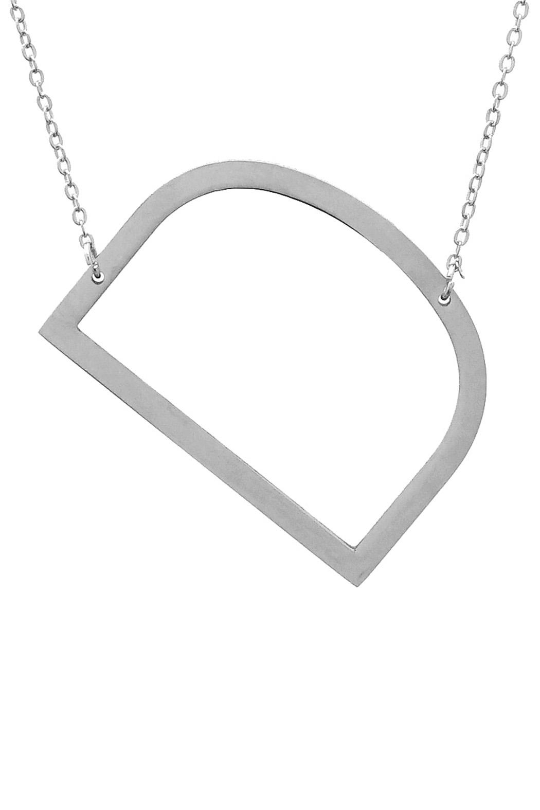 Wild Lilies Jewelry  Sideways Initial Necklace - Side Cropped Image