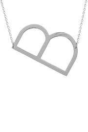 Wild Lilies Jewelry  Sideways Initial Necklace - Front cropped