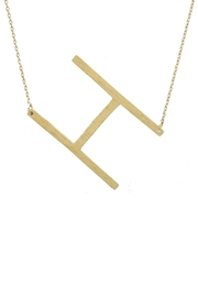 Wild Lilies Jewelry  Sideways Initial Necklace - Back cropped