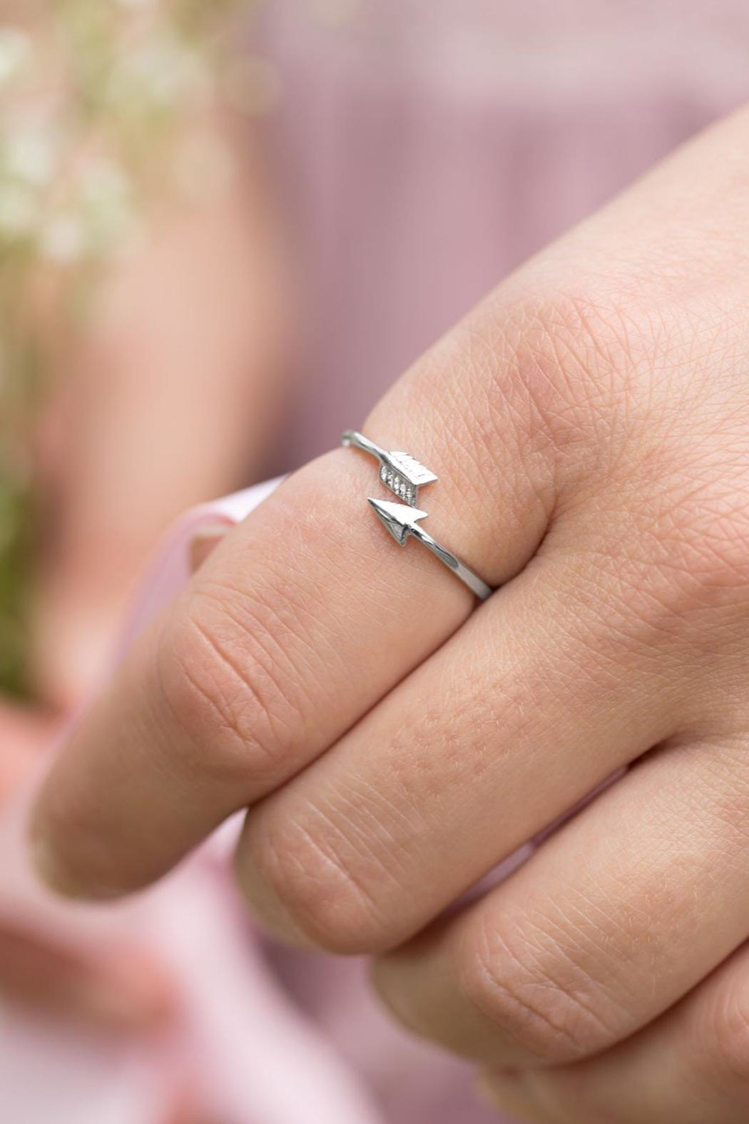 Wild Lilies Jewelry  Silver Arrow Ring - Front Full Image