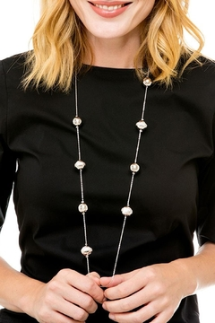 Shoptiques Product: Silver Ball Necklace