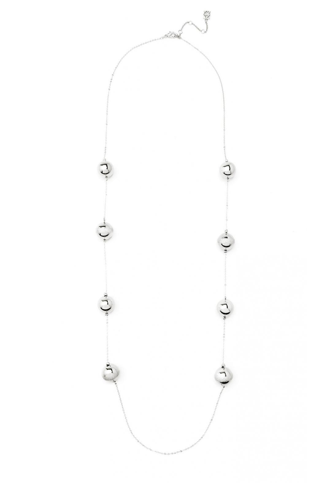 Wild Lilies Jewelry  Silver Ball Necklace - Front Full Image
