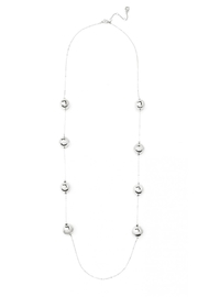 Wild Lilies Jewelry  Silver Ball Necklace - Front full body