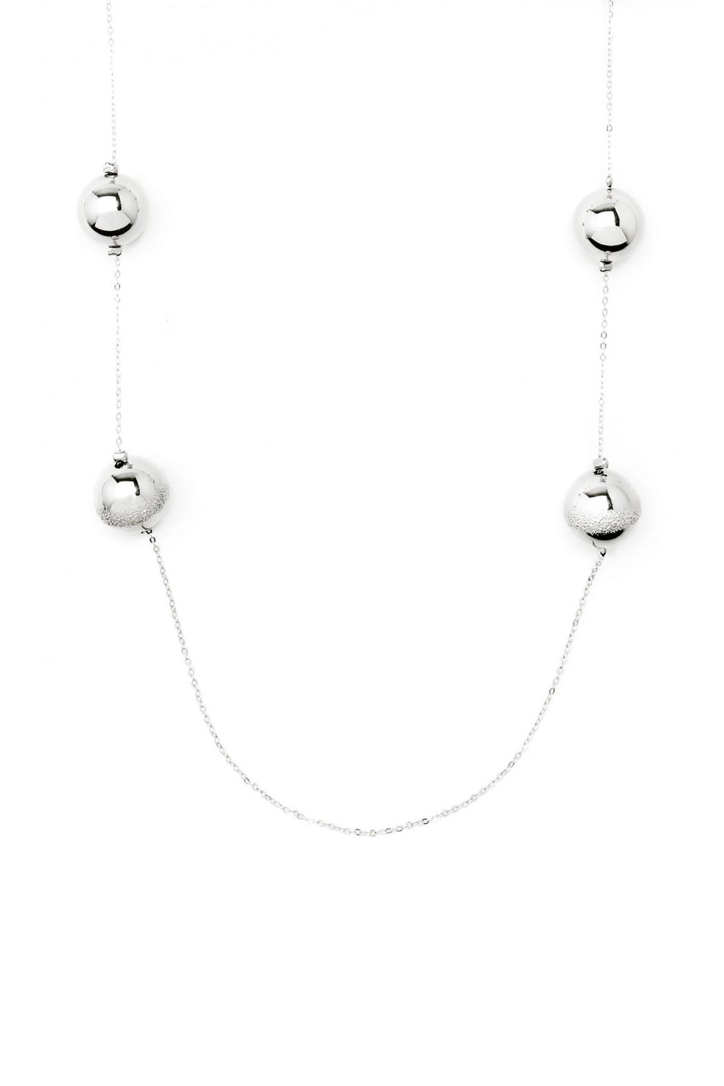 Wild Lilies Jewelry  Silver Ball Necklace - Side Cropped Image