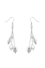 Wild Lilies Jewelry  Silver Beaded Earrings - Front cropped