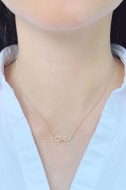 Wild Lilies Jewelry  Silver Bow Necklace - Product Mini Image