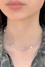 Wild Lilies Jewelry  Silver Choker Necklace - Front cropped