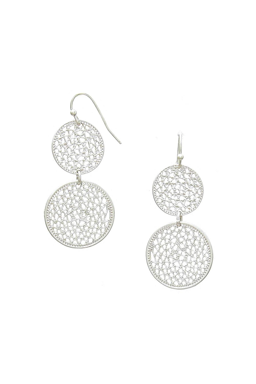 Wild Lilies Jewelry  Silver Circle Earrings - Main Image