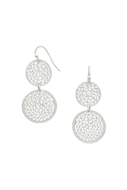 Wild Lilies Jewelry  Silver Circle Earrings - Front cropped