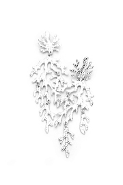 Wild Lilies Jewelry  Silver Coral Earrings - Product Mini Image