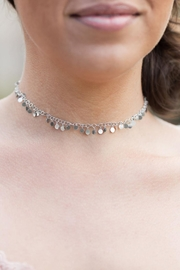 Wild Lilies Jewelry  Silver Disc Choker - Front full body