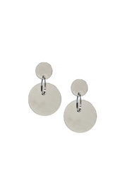 Wild Lilies Jewelry  Silver Disc Earrings - Front cropped