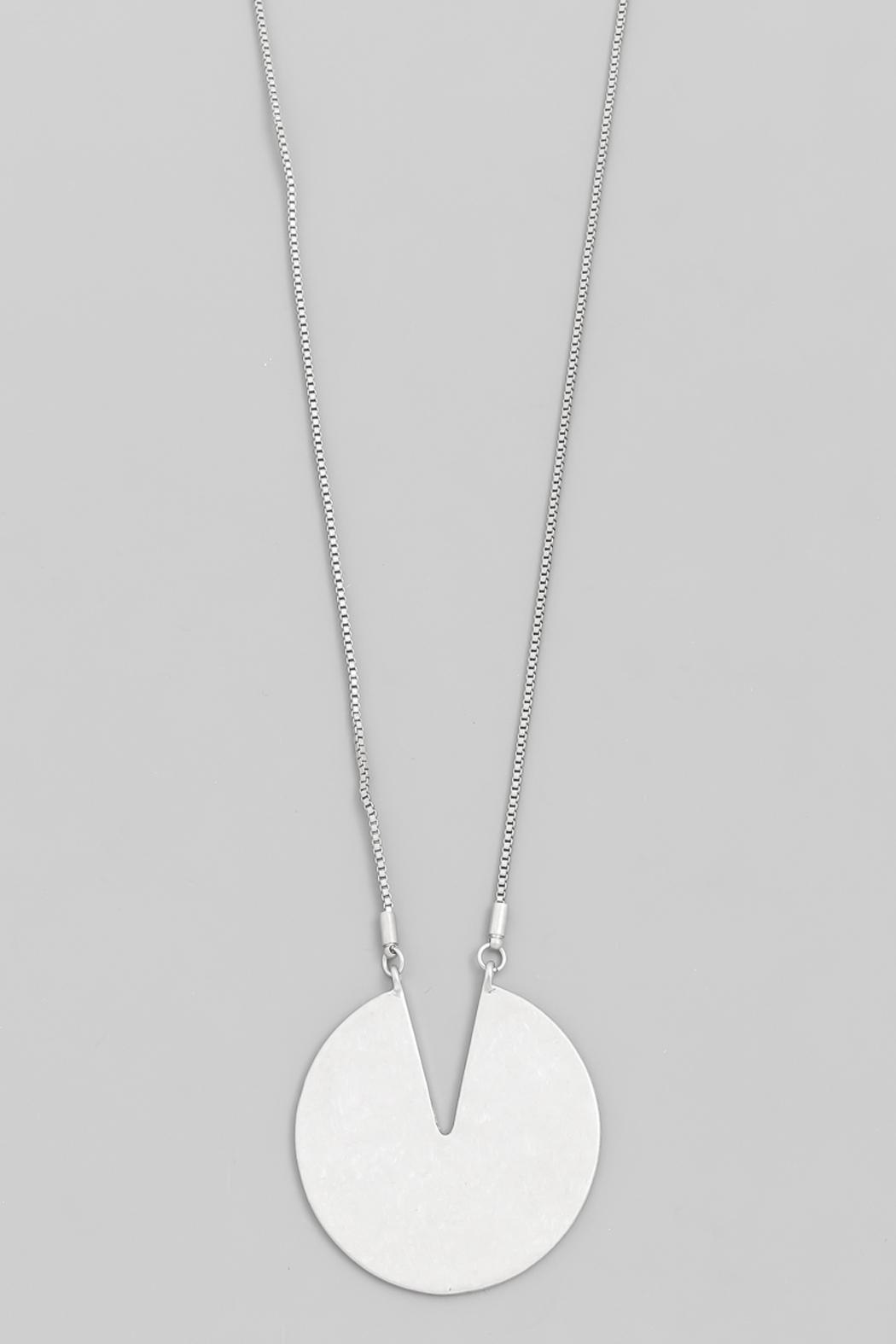 Wild Lilies Jewelry  Silver Disc Necklace - Front Full Image